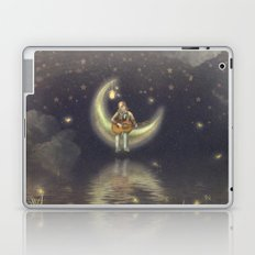 Story about boy who play guitar on moon Laptop & iPad Skin