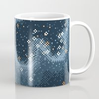 Grey Rift Galaxy (8bit) Mug