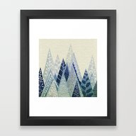 Snow Top Framed Art Print