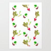 Veggie Fun Art Print
