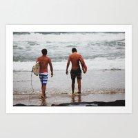 Surf Art Print