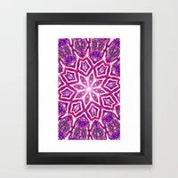 Cosmic Lotus Framed Art Print