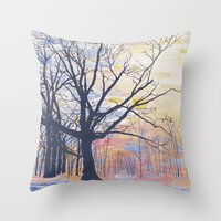 Kew Gardens, from the north-east Throw Pillow