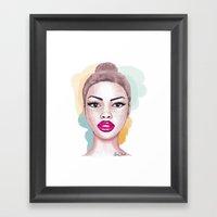 Big brown eyes Framed Art Print