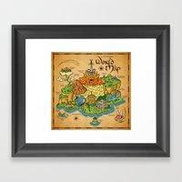 World Map - Mario RPG Framed Art Print