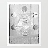 7°mono^Up Art Print