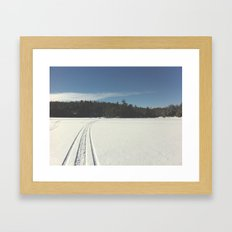 Skidoo on lake Framed Art Print