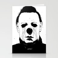Stationery Cards featuring Myers, The Clown by ԅіѻѣәая ツ
