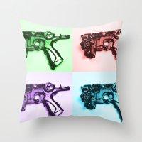 Ray Gun A Throw Pillow