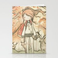 Autumn Girl Stationery Cards