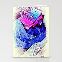 Jeep & Tarp & Chalks Stationery Cards