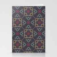 Doodle Damask Compositio… Stationery Cards