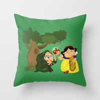 Snow White Throw Pillow