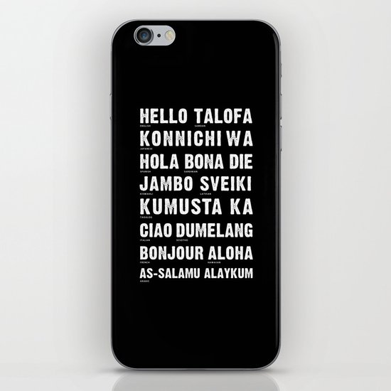 Hello Language iPhone & iPod Skin