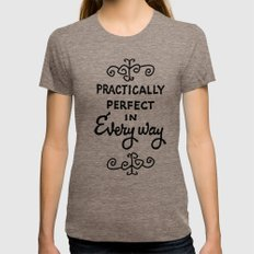 Practically Perfect In E… Womens Fitted Tee Tri-Coffee SMALL