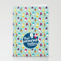 That summer feeling - Blue Stationery Cards