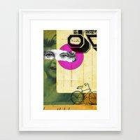 Play hide and seek with petit Nicola Framed Art Print