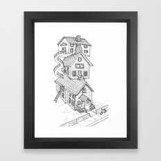 View from house C Framed Art Print