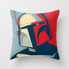 Boba Fett for president  Throw Pillow