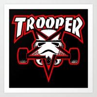 Trooper Magazine Art Print