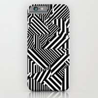 Dazzle Camo #01 - Black & White iPhone 6 Slim Case