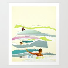 Sun and Surf Art Print