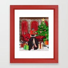 The Christmas Book Framed Art Print