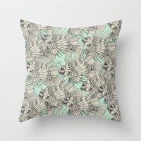 Fish Mirage Mint Throw Pillow