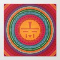Sun Face Jewel Canvas Print