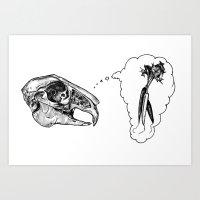 Hungry Bones Art Print