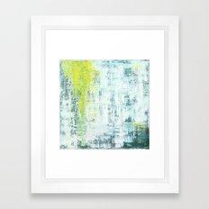Flowing Green Framed Art Print