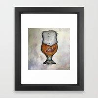 Craft Beer Bubbles  Framed Art Print