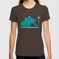 Waterslide Womens Fitted Tee Brown SMALL
