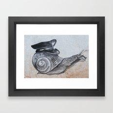Snails Pace Framed Art Print