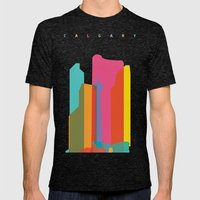 Shapes of Calgary Mens Fitted Tee Tri-Black SMALL