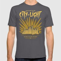 Welcome to the City of Light Mens Fitted Tee Asphalt SMALL