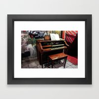 Basement Organ Framed Art Print