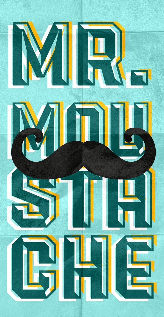 mr moustache Art Print
