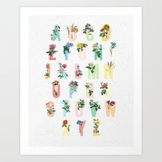 Botanical Alphabet Art Print