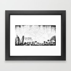 Dubaï Framed Art Print