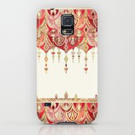 Royal Red Art Deco Doubl… Galaxy S5 Slim Case