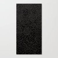 Cluster of Black Roses Canvas Print
