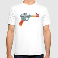 Gun Toy SMALL White Mens Fitted Tee