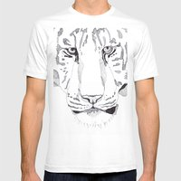 Tiger. Mens Fitted Tee White SMALL