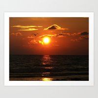 Madeira Beach Sunset 1 Art Print