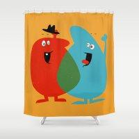 Hello Old Chum | Illustr… Shower Curtain