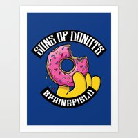 Sons Of Donuts / Simpsons / Donuts Art Print
