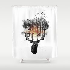 Ashes to ashes. Shower Curtain