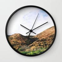 Malibu Mountains Wall Clock