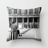 Full speed ahead into the wall Throw Pillow